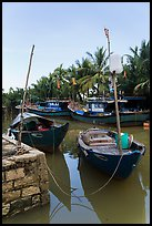 Fishing boats, Cam Kim Village. Hoi An, Vietnam ( color)