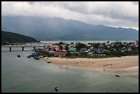 View of village and beach. Vietnam (color)