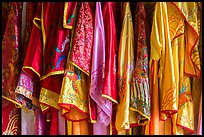 Silk robes, imperial citadel. Hue, Vietnam ( color)