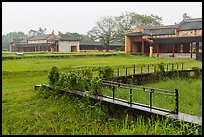 Palaces and grassy grounds, imperial citadel. Hue, Vietnam ( color)