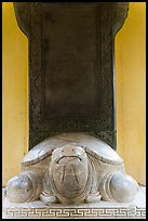 Stone turtle with a stele on its back, Thien Mu pagoda. Hue, Vietnam ( color)