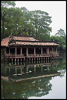 Pavilion on stilts and Luu Khiem Lake, Tu Duc Mausoleum. Hue, Vietnam (color)