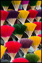 Multicolored incense sticks. Hue, Vietnam ( color)