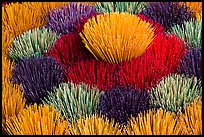 Mosaic of incense sticks. Hue, Vietnam ( color)