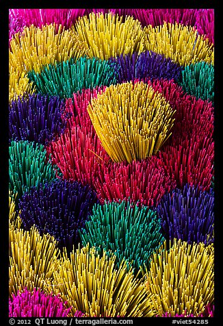 Kaleidoscope of incense sticks. Hue, Vietnam (color)