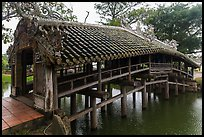 Thanh Toan covered bridge. Hue, Vietnam (color)