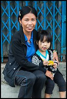 Girl and mother, Thanh Toan. Hue, Vietnam ( color)