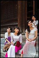 Bridal party, Temple of the Litterature. Hanoi, Vietnam ( color)