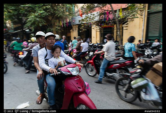 Busy street, old quarter. Hanoi, Vietnam (color)