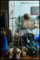 Objects used for water puppetry, Thang Long Theatre. Hanoi, Vietnam ( color)