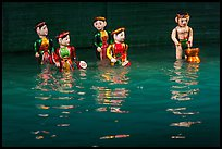 Water puppets (5 characters with musical instruments), Thang Long Theatre. Hanoi, Vietnam ( color)