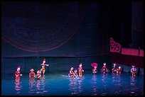 Water puppets (12 characters from various skits), Thang Long Theatre. Hanoi, Vietnam ( color)