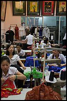 Women in sewing factory. Vietnam (color)