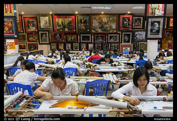 Workers in embroidery factory. Vietnam (color)