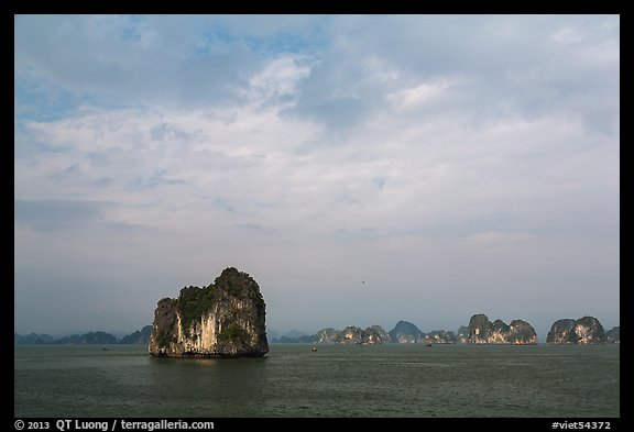 Limestone islets. Halong Bay, Vietnam (color)