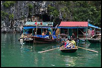 Floating houses, Vung Vieng village. Halong Bay, Vietnam ( color)