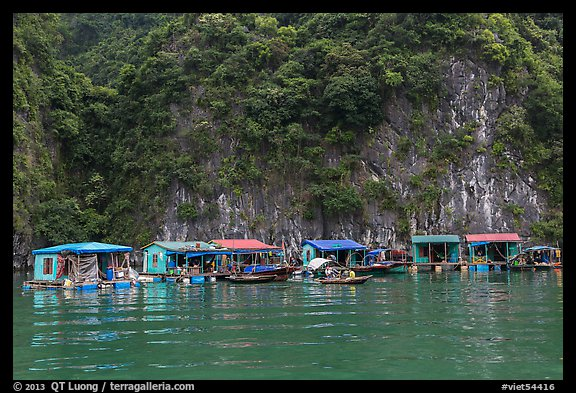 Vung Vieng fishing village. Halong Bay, Vietnam