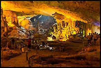 Huge underground chamber, Sung Sot Cave. Halong Bay, Vietnam ( color)