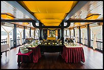 Tour boat dining room. Halong Bay, Vietnam (color)