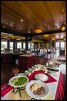 Pho buffet in tour boat dining room. Halong Bay, Vietnam ( color)