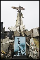 Wreckage of downed B52 bomber. Hanoi, Vietnam ( color)