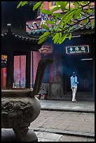 Entrance to Jade Emperor Pagoda, district 3. Ho Chi Minh City, Vietnam (color)