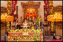 Altar, Le Van Duyet temple, Binh Thanh district. Ho Chi Minh City, Vietnam (color)