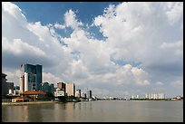 High rises along Saigon River. Ho Chi Minh City, Vietnam (color)