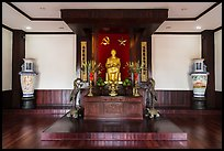 Altar to Ho Chi Minh, Ho Chi Minh Museum. Ho Chi Minh City, Vietnam (color)