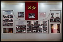 Historic photos, Ho Chi Minh Museum. Ho Chi Minh City, Vietnam (color)