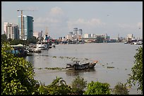 Saigon riverfront. Ho Chi Minh City, Vietnam (color)