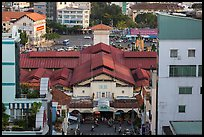 Ben Thanh covered market from above. Ho Chi Minh City, Vietnam (color)