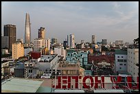 Rooftop view of Saigon skyline. Ho Chi Minh City, Vietnam (color)