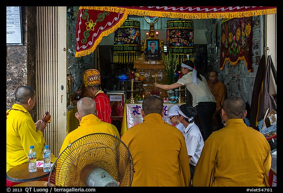 Buddhist funeral. Ho Chi Minh City, Vietnam (color)