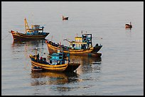 Fishing boats, early morning. Mui Ne, Vietnam ( color)