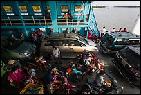 Abord ferry across the Mekong River. Mekong Delta, Vietnam ( color)