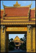 Khmer-style Ong Met Pagoda. Tra Vinh, Vietnam (color)