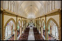 Church nave. Tra Vinh, Vietnam ( color)