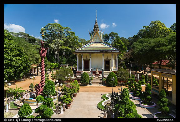 Hang Pagoda and grounds. Tra Vinh, Vietnam (color)