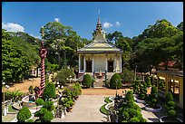 Hang Pagoda and grounds. Tra Vinh, Vietnam ( color)