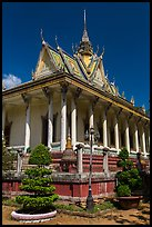 Pagoda in Khmer style. Tra Vinh, Vietnam ( color)