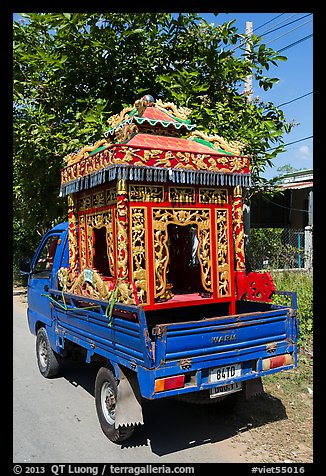Funeral vehicle. Tra Vinh, Vietnam (color)