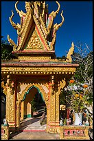 Spirit house, Ang Pagoda. Tra Vinh, Vietnam (color)