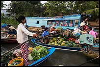 Floating market, Phung Diem. Can Tho, Vietnam ( color)