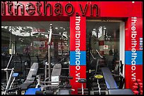 Store selling exercise equipment. Ho Chi Minh City, Vietnam ( color)