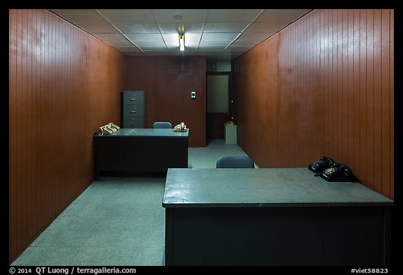 Military communications room, Independence Palace. Ho Chi Minh City, Vietnam (color)