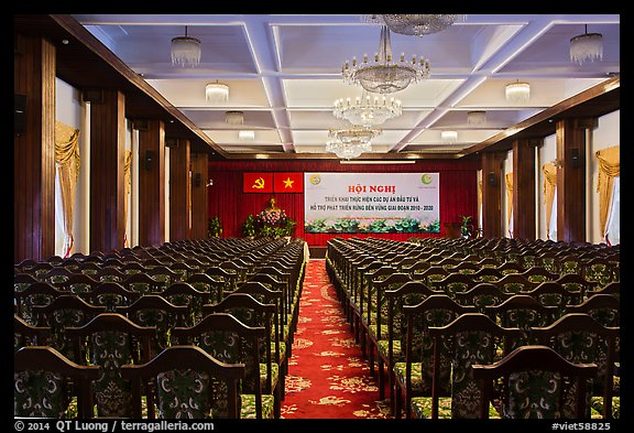Conference Hall, Reunification Palace. Ho Chi Minh City, Vietnam (color)