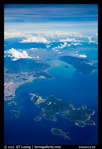 Aerial view of Hon Tre Island and Nha Trang. Vietnam (color)