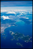 Aerial view of Hon Tre Island and Nha Trang. Vietnam ( color)