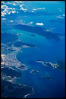 Aerial view of Nha Trang Bay and Van Phong Bay. Vietnam ( color)